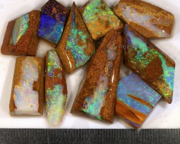 120ct 10Pcs Natural  Boulder Pipe Opal Rough Parcel [BRP-017]