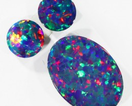 2.10Cts Set three  Gem Opal Doublet Parcel  SU1152