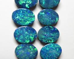Australian Doublet Opal 8 Stone 8x6mm Parcel