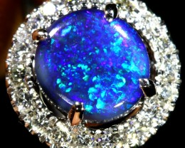 5 SIZE BLACK OPAL ENGAGEMENT RING 14 K RING [SOJ8]SH