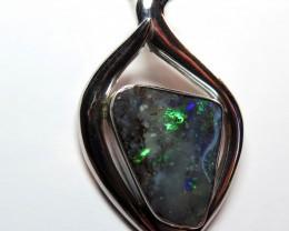 Australian Boulder Opal Freeform Hand Made  Pendant