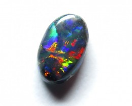 0.44Ct Lightning Ridge Black Opal stone