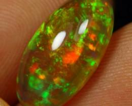 4.95cts 5/5 Flash Green and Orange Fire Ethiopian Opal