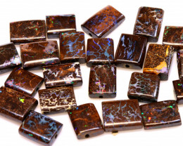 50CTS BOULDER OPAL BEADS FLAT  DRILLED  TBO-967