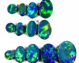 5.17Cts 12pcs  Gem Opal Doublet Parcel  SU1172