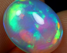 Free Shipping 3.40cts Top 5/5 Blue Purplish Fire Ethiopian Opal