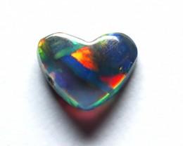 0.32Ct Lightning Ridge Semi Black Crystal Opal stone