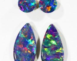 1.18Cts Pair Gem Opal Doublet Parcel  SU1206