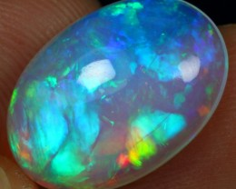 6.20cts Icy Blue Aurora Fire Ethiopian Opal