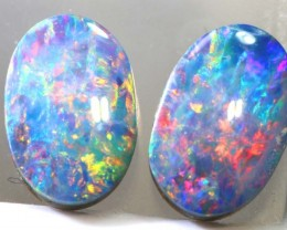 1.7CTS   OPAL DOUBLET   PAIR LO-4837