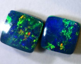 0.9CTS   OPAL DOUBLET   PAIR LO-4838