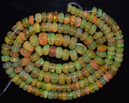 48.30 Ct Natural Ethiopian Welo Opal Beads Play Of Color