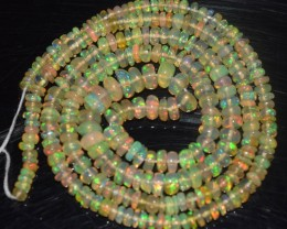 28.00 Ct Natural Ethiopian Welo Opal Beads Play Of Color