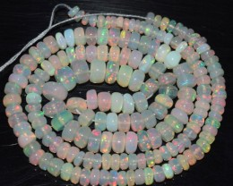 43.80 Ct Natural Ethiopian Welo Opal Beads Play Of Color