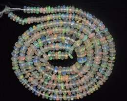 22.90 Ct Natural Ethiopian Welo Opal Beads Play Of Color
