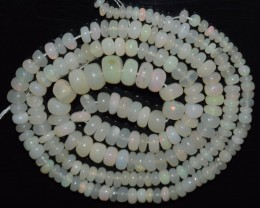 36.90 Ct Natural Ethiopian Welo Opal Beads Play Of Color