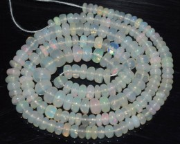 42.20 Ct Natural Ethiopian Welo Opal Beads Play Of Color