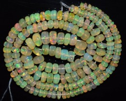 45.75 Ct Natural Ethiopian Welo Opal Beads Play Of Color