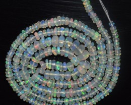 26.55 Ct Natural Ethiopian Welo Opal Beads Play Of Color