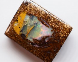 9.80CT SMALL BRIGHT WOOD FOSSIL BOULDER OPAL OI143