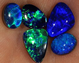 5pcs 5.2ct Lightning Ridge Opal Doublet Parcel [PDO-132]