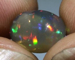 4.60 ct ct Multi Color Australian Lightning Ridge Crystal Opal