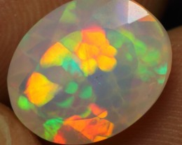 Faceted 2.70cts Floral Honeycomb Natural Ethiopian Opal