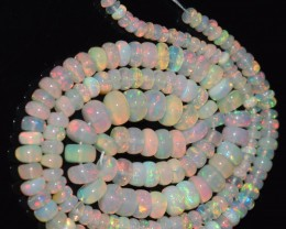 41.70 Ct Natural Ethiopian Welo Opal Beads Play Of Color