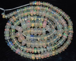 38.55 Ct Natural Ethiopian Welo Opal Beads Play Of Color