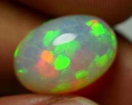 7.50 CRT BRILLIANT MILKY SWEET HONEYCOMB PATTERN PLAY COLOR WELO OPAL-