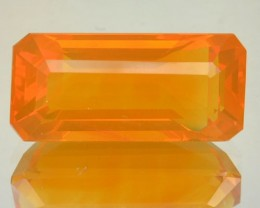 4.84 Cts Natural Fire Orange Mexican Opal Octagon NR