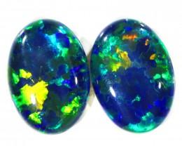 11.90Cts 2pcs Australian AAAAA Grade Opal triplet  SU1236