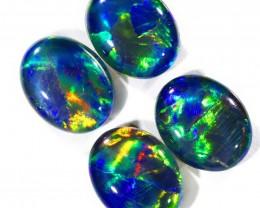 7.5Cts 4pcs Australian AAAAA Grade Opal triplet  SU1237