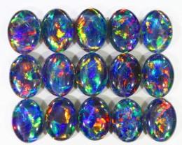 13.95Cts 15pcs Australian AAAAA Grade Opal triplet  SU1238