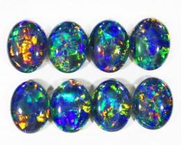 11.70Cts 8pcs Australian AAAAA Grade Opal triplet  SU1239