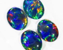 7.50Cts 4pcs Australian AAAAA Grade Opal triplet  SU1242