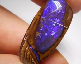 28.9ct Deep Blue Quality Boulder Opal Polished Stone