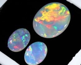 1.52Cts Set  3 matching Fire opals  SU1262