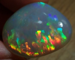 11.26ct Brilliant Supreme Multicoloured Metallic Base Wello Opal