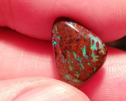 6.05cts double sided Natural solid boulder opal rainbow gem colors