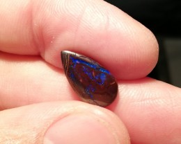 3.5cts double sided Natural solid boulder opal Electric fires