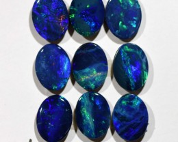 6.78cts Opal Doublets - 9 Stones (R2923)