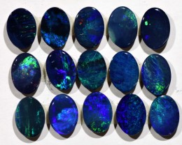 7.57cts Opal Doublets - 15 Stones (R2925)