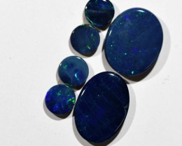 4.42cts Opal Doublets - 6 Stones (R2928)