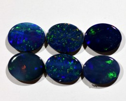7.05cts Opal Doublets - 6 Stones (R2931)