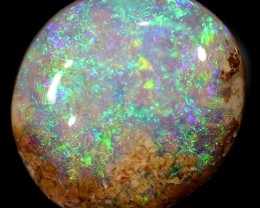 Pipe crystal boulder opal stone BB318