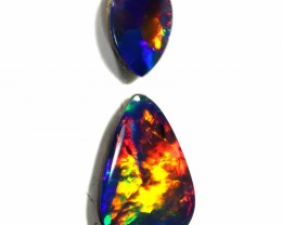 0.90 CTS GEM DOUBLET SET FOR PENDANT [SEDA979-12]SAFE