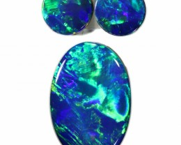 2.03 CTS GEM DOUBLET SET FOR EARRING AND PENDANT [SEDA983-6]SAFE