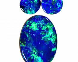 2.20 CTS GEM DOUBLET SET FOR EARRING AND PENDANT [SEDA986-6]SAFE