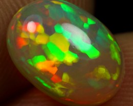 2.00cts 3D HEXAGON FLAGSTONE Natural Ethiopian Welo Opal